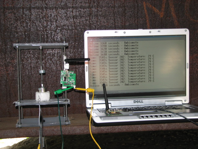Wireless sensor powered by bridge vibration - AmbioMote - 2007.JPG